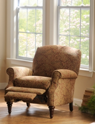 Red Paisley Recliner