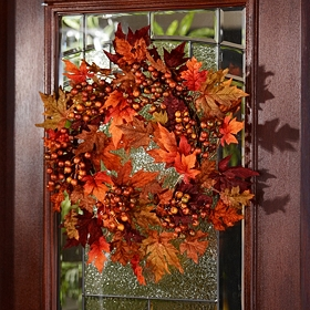 Maple Leaf & Berry Wreath