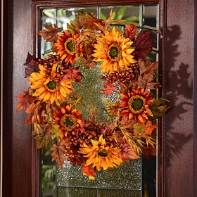 Sunflower & Berry Wreath