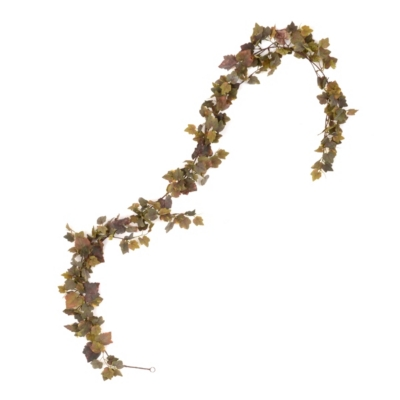 Green & Burgundy Grape Leaf Garland