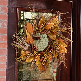 Berry & Cattail Wreath