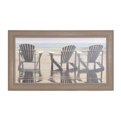Coastal Chairs Framed Art Print