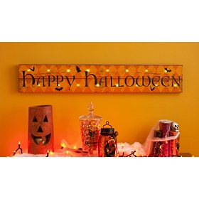 Happy Halloween LED Canvas Art