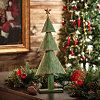 Rustic Green Metal Christmas Tree, 26 in.