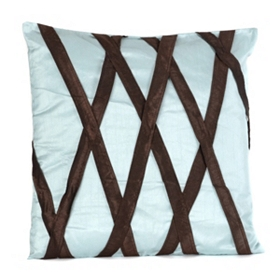 Aqua & Brown Accent Pillow