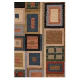 Patchwork Hand-Woven Accent Rug