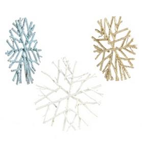 Sparkling Twig Snowflake Ornament