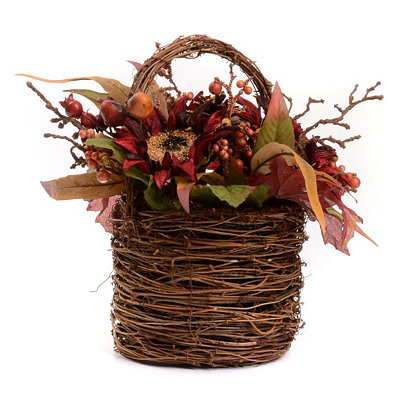 Red Sunflower Basket Arrangement