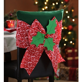 Christmas Bow Chair Covers