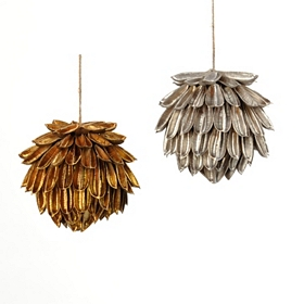 Metallic Pine Cone Ornament