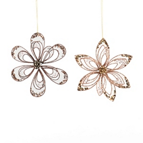 Metallic Flower Ornament