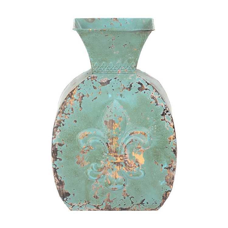 antique blue fleur de lis vase kirklands