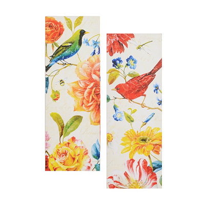 Birds & Blossoms Canvas Art, Set of 2