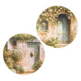 Enlightened Entrance Canvas Art, Set of 2