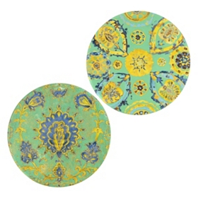 Europa Paisley Canvas Art, Set of 2