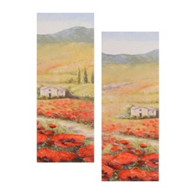 Flowers in the Valley Canvas Art, Set of 2