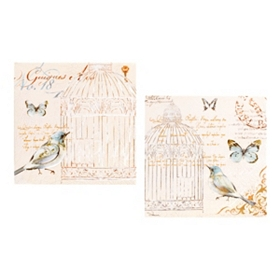 Letters to Love Birds Canvas Art, Set of 2