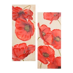 Poppy Symposium Canvas Art, Set of 2