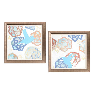 Hummingbird Framed Art, Set of 2