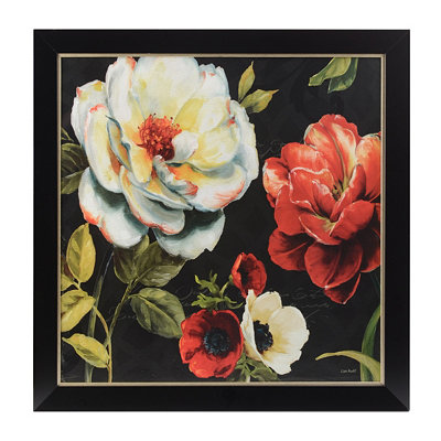Flowers in the Night Framed Art Print