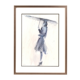Lady in the Rain Framed Art Print