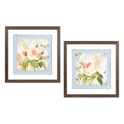 Le Fleur Framed Art, Set of 2