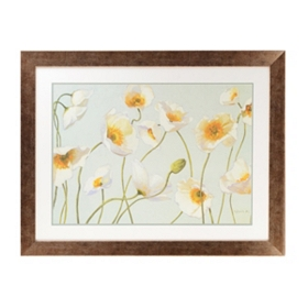 Field of White Poppies Framed Art Print