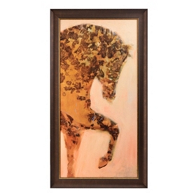 Golden Horse Framed Art Print