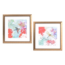 Jardin L'air Du Temps Framed Art, Set of 2