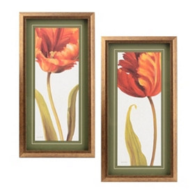 Orange Blossom Framed Art, Set of 2