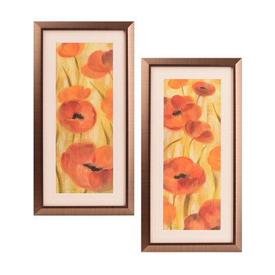 California Poppy Framed Art, Set of 2