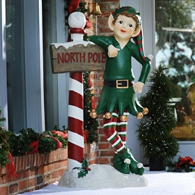 Buddy the North Pole Elf Statue, 54 in.