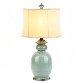 Light Blue Rustic Table Lamp