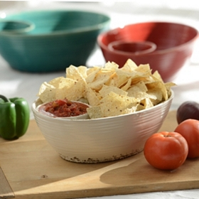 Ceramic Chip and Dip Bowl
