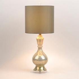 Silver & Cream Mercury Glass Table Lamp
