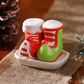 Elf Boot Salt & Pepper Shakers
