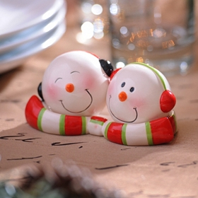 Cheery Snowmen Salt & Pepper Shakers