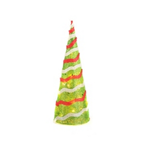 Pre-Lit Sisal Christmas Tree, 20 in.