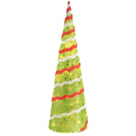 Pre-Lit Sisal Christmas Tree, 36 in.