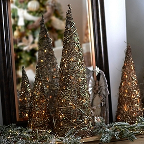 Pre-Lit Bronze Christmas Tree, 36 in.