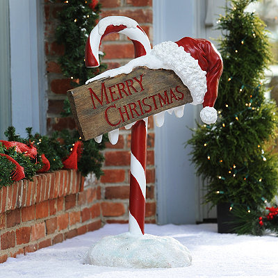 Shop jolly outdoor christmas decorations kirklands for Large outdoor christmas signs