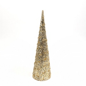 Sparkling Champagne Cone Tree, 21 in.