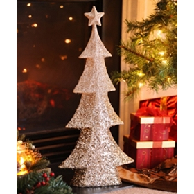 Champagne Tinsel Tree, 28 in.