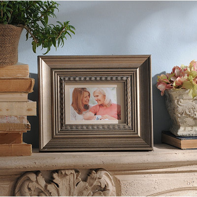Antique Silver Wood Picture Frame, 5x7