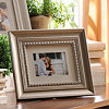 Antique Silver Wood Picture Frame, 8x10