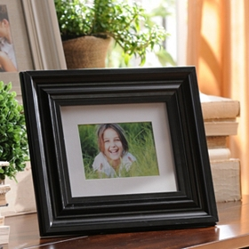 Polished Black Wood Picture Frame, 8x10