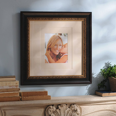 Bronze & Gold Wood Picture Frame, 11x14