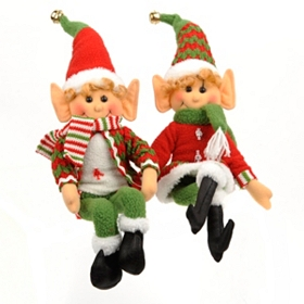 Tabletop Santa's Elf, Set of 2