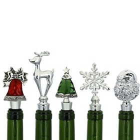 Holiday Wine Bottle Stoppers