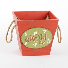 Red Wooden Joy Basket